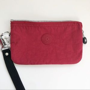 NWOT Kipling  3 compartments red wristlet